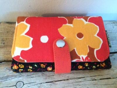 portemonnee rood bloemen